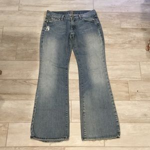 7 for all mankind barley worn flare jeans size 30